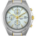 Seiko Men's Silver Dial Two-tone Chronograph Watch