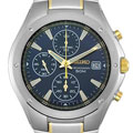 Seiko Men's SND585 Blue Dial Two-tone Chronograph Watch