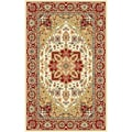 Lyndhurst Collection Ivory/ Red Rug (3&#39;3 x 5&#39;3)