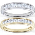 14k Gold 1/2ct TDW Princess Diamond Wedding Band