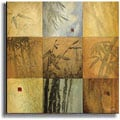 Bamboo Nine Patch by Don Li-Leger Stretched Canvas