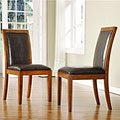 ETHAN HOME Aiden Dark Chocolate Side Chairs (Set of 2)