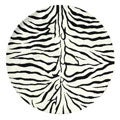 Hand-tufted Zebra Stripe Wool Rug (6 ft Round)