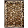 Hand-tufted Kamela Brown Wool Rug (5&#39; x 8&#39;)