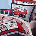&#39;Fireman&#39; 3-piece Quilt Set