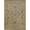 Hand-tufted Camelot Ivory Floral Border Wool Rug (10&#39; x 14&#39;)