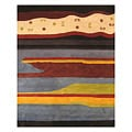 Hand-tufted Wool Blue Misra Gabbeh Rug (7'9 x 9'9)