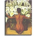 Diego Rivera 'Nude with Calla Lilies' Stretched Canvas