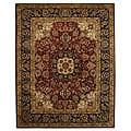 Safavieh Handmade Classic Kerman Burgundy/ Navy Wool Rug (9'6 x 13'6)