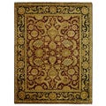 Safavieh Hand-knotted Burgundy/ Black Treasures Wool Rug (9' x 12')