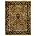 Hand-knotted Camel/ Black Eternity Wool Rug (8' x 10')