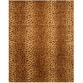 Hand-tufted Leopard Wool Rug (5' x 8')