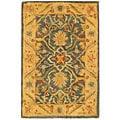 Safavieh Handmade Antiquities Mahal Blue/ Beige Wool Rug (2' x 3')