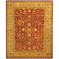 Handmade Antique Mahal Rust/ Beige Wool Rug (6' x 9')