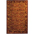 Handmade Treasured Red Wine Wool Rug (5' x 8')