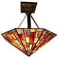 Tiffany-style Red Hanging Lamp