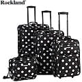 Rockland Black Dot 4-piece Expandable Luggage Set