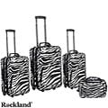 Rockland Deluxe Zebra 4-piece Luggage Set