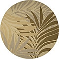 Hand-hooked Tropic Indoor/Outdoor Floral Rug (8' Round)