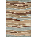 Ackworth Tufted Blue/ Brown Runner Rug (5&#39; x 7&#39;6)