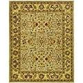 Handmade Classic Kasha Gold Wool Rug (6' x 9')