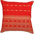 Red Decorative Elephants Cushion Cover