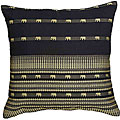 Black Decorative Elephant Cushion Cover