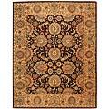 Safavieh Handmade Treasures Burgundy/ Beige Wool and Silk Rug (8'6 x 11'6)