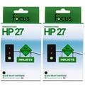 HP 27 2-pack Black Ink Cartridge (Remanufactured)