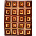 Hand-knotted Squares Contemporary Wool Rug (7'6 x 9'6)