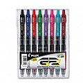 Pilot G2 Roller Ball Retractable Gel Pen, Assorted Ink, Fine Point, 8 per Pack, ST - PIL31128