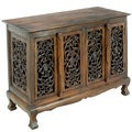 Flowers and Vines Storage Cabinet/ Sideboard Buffet