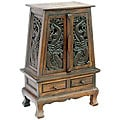 Carved Thai Dragons Storage Cabinet/ End Table