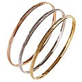 Nexte TexturedTri-color &#39;Fin de Semana&#39; Bangle Bracelets (Set of 3)