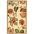 Hand-hooked Transitional Ivory Wool Rug (2'9 x 4'9)
