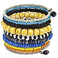 Bead and Bone 10-turn Multicolor Bracelet (India)
