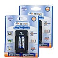 Zeikos AA and AAA NiMH Travel Charger (Set of 2)