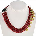 Maddy Emerson Freshwater Pearl and Coral Necklace