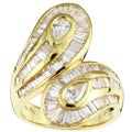 Kabella 18k Yellow Gold 2 4/5ct TDW Diamond Bypass Ring (H-I, SI) (6.75)