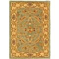 Safavieh Handmade Antiquities Treasure Teal/ Beige Wool Rug (2' x 3')
