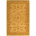 Safavieh Handmade Antiquities Treasure Ivory/ Brown Wool Rug (5' x 8')