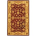 Handmade Antiquities Jewel Red/ Ivory Wool Rug (4' x 6')