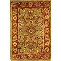 Safavieh Handmade Golden Jaipur Green/ Rust Wool Rug (2' x 3')