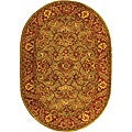 Safavieh Handmade Golden Jaipur Green/ Rust Wool Rug (4'6 x 6'6 Oval)
