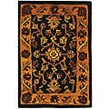 Safavieh Handmade Golden Jaipur Black/ Gold Wool Rug (2' x 3')