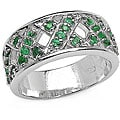 Malaika Sterling Silver and Emerald Ring