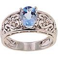Michael Valitutti 14k Gold Aquamarine and Diamond Ring