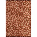 Hand-tufted Giraffe Gold Wool Rug (8' x 10' 6)