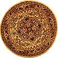Safavieh Handmade Classic Heriz Gold/ Red Wool Rug (3'6 Round)
