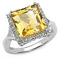 Malaika Glimmering 4.00ctw Genuine Citrine Silver Ring